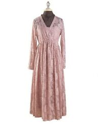 Victorian Trading NWOT Hopeless Romantic Champagne Pink Garden Lace Dress MD 26B $27.99