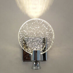 Modern Luxury Crystal Wall Lamp Led Wall Sconce Light Fixtures Bedroom Bathroom $65.99