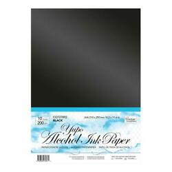 Couture Creations YUPO ALCOHOL INK PAPER BLACK A4 Sheets 10pk 200gsm CO727892 AU $17.95