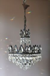 French Empire Vintage Crystal Chandelier Antique Lighting lamp Home Light GBP 825.00