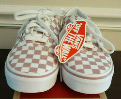 Vans Off The Wall Girls Pink White Checkerboard Shoes Size 1 $40.00