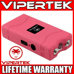 VIPERTEK Stun Gun Mini PINK VTS 880 335 BV Rechargeable LED Flashlight $8.79
