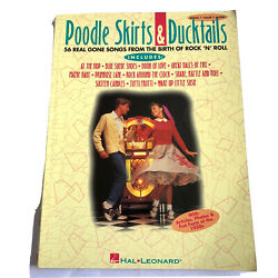 Poodle Skirts amp;DuckTails Sheet Music Book Rock N Roll 1950s Piano Guitar Vocal $9.99