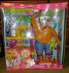 CUDDLY SOFT KELLY SISTER OF BARBIE 16quot; DOLL W HIGH CHAIR THAT#x27;S ALSO A DESK $174.99