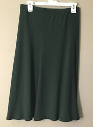 Susan Graver Style Stretch Knit A Line Skirt Plus Size 2X Pull On Green EUC $23.99