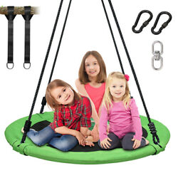 40 Inch Tree Swing Flying Saucer Swing Kids Swing Gardenamp;Backyard Play Toy Green $78.88