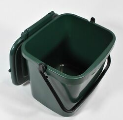 4.5L Kitchen Compost Storage Caddy Food Waste Recycling Bin Handle Green $8.99
