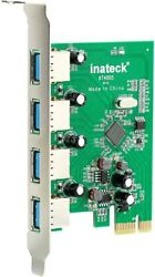 Inateck PCI E to USB 3.0 Expansion Card Express Card 4 PortsWide Compatibility $14.99
