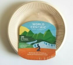 World Centric quot;make an impact quot; 20 6quot; Compostable Plates new $8.65