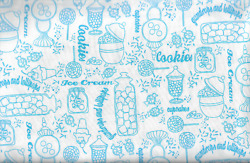 45quot; 100% cotton novelty food print by Quilting Treasures $5.99