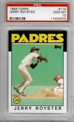 1986 Topps #118 Jerry ROYSTER PSA 10 Padres $49.99