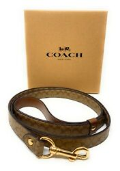 Coach Large Leather Pet Dog Leather Leash Crossgrain $49.97