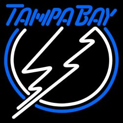 Tampa Bay Lightning Neon Lamp Sign 17quot;x14quot; Bar Lighting Beer Artwork Glass $119.99