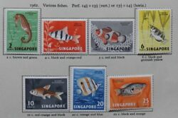 SINGAPORE 1962 66 Definitives Fish Orchids amp; Birds SG63 77 Cat £55 Mounted Mint GBP 14.99