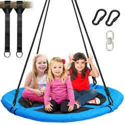 40quot; Outdoor Nest Swing Kids Swing Round w Hanging Straps 660Lbs Weight Capacity $78.88