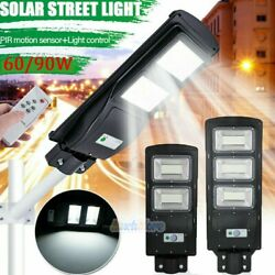 9990000LM Commercial LED Solar Street Light PIR Radar Sensor Dusk to DawnRemote