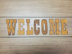 Welcome Western Rusty Steel Metal Letters Rustic Decor Farmhouse $24.00