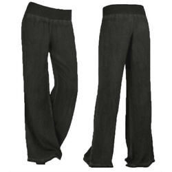 Plus Size Womens Wide Leg Pants Casual Loose Lounge Bottoms Palazzo Trousers New $15.19
