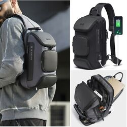 Stylish Men#x27;s Anti theft Sling Bag Crossbody Backpack Shoulder Casual Daypack $28.99