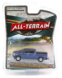 1:64 GreenLight *ALL TERRAIN 10* Blue 2019 Chevrolet Silverado HIGH COUNTRY NIP $5.49