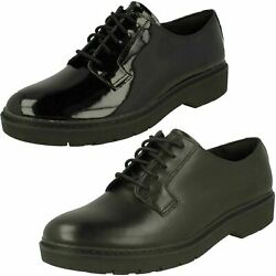 LADIES CLARKS WITCOMBE LACE BLACK LACE UPS $98.15