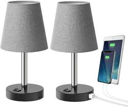 Table Lamp with 2 USB Charging Ports Bedside Lamp Nightstand Set of 2 $29.99