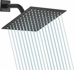 8quot; Square Stainless Steel Fixed Shower Head Ultra Thin Oil Rubbed Bronze Black $26.50