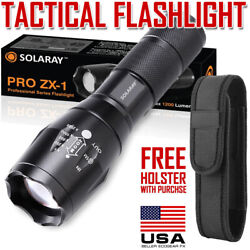 Tactical Flashlight LED 18650 AAA Work Emergency Car Security Light with Holster $8.99