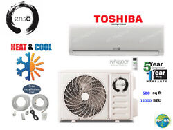 12000 BTU Ductless Air Conditioner Heat Pump Mini Split 110V 1 Ton With KIT $439.99