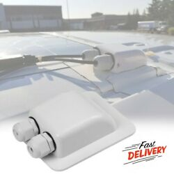 RV Roof Solar Panel Cable Boat Camper Motorhome Caravan Double Entry Gland Box $15.99