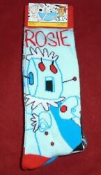 NEW MENS quot;THE JETSONS ROSIE CARTOON MAID 2 PAIR NOVELTY SOCKSquot; Shoe Size 6 12 $9.69