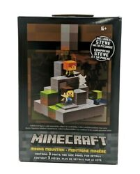 Minecraft Cave Biome Collection #1 Mining Mountain amp; Steve Pickaxe $24.99