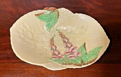 Vintage CARLTON WARE England quot;FOX GLOVESquot; MAJOLICA POTTERY Yellow Bowl 8quot; $16.00