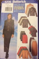Butterick 5236 VERY EASY Misses' Jacket Top amp; Skirt 12 14 16 Unlimited Fashion $5.99