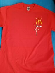 Cactus Jack McDonalds T Shirt Travis Scott Merch Crew Red or Black Tee $15.95
