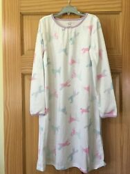 New Carter#x27;s Unicorn Nightgown Nightshirt Girls Long Sleeve $10.91