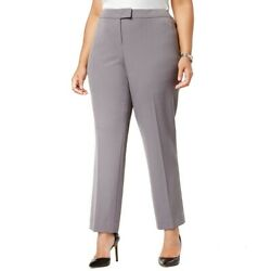 ANNE KLEIN NEW Women#x27;s Gray Plus Wear To Work Dress Pants 18W TEDO $16.14