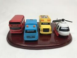 Lot of 4 Road Rippers Garbage Recycle Truck Bus Helicopter Kids Toys Plastic H9 $29.99