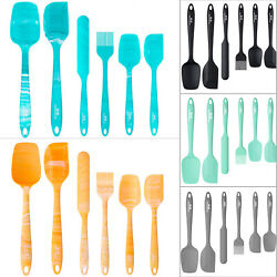 6PCS Silicone Spoon Utensil Spatula Set Heat Resistant Non stick Baking Kitchen $12.49