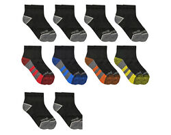 Fruit of the Loom Boys Socks 10 Pack Ankle Cushioned Size L Shoe Size 3 9 $8.99