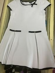 Janie And Jack COASTAL WHITE quilted Dress Size Girls 8 $20.00