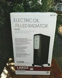 LARGE HEATER 682 101 NIB Portable 1500 Watt Radiant Electric Heater $38.68