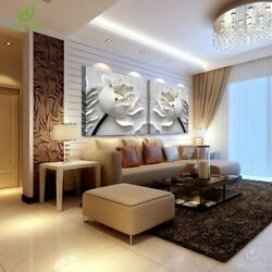 3D Art Modular Pictures Flower Lotus Poster Wall Paintings Canvas Living Room $16.68