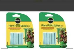 Miracle Gro Indoor Plant Food fertilizer Spikes Includes 2 packs 24 ea $3.50