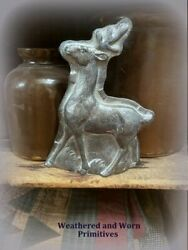 Primitive Country Christmas Reindeer Faux Resin Chocolate Mold 8quot; H x 6quot; W $13.99