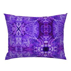 Lights Chandelier Purple Crystal Pillow Sham by Roostery $49.00