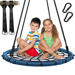 40quot;Indoor Outdoor Nest Swing Round Spider Web Swing Child Kids#x27; Swing Bis 700Lbs $78.88