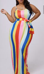 Rainbow Beauty Maxi Plus Size Dress $25.00