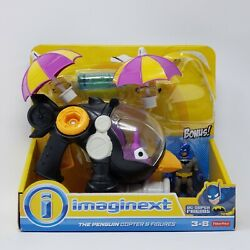 FISHER PRICE IMAGINEXT DC FRIENDS PENGUIN COPTER BATMAN HELICOPTER PLAY SET NIB $44.94