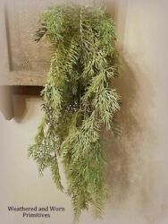 Primitive Country Variegated Sticky Cedar Hanging Bush 27quot; Long Very Realistic $13.99